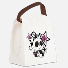 Panda with Stars Canvas Lunch Bag