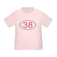 Number 38 Oval Toddler T-Shirt