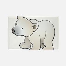 Gray Baby Polar Bear Rectangle Magnet