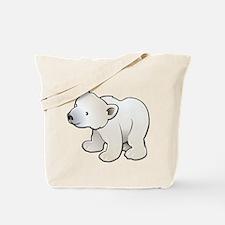 Gray Baby Polar Bear Tote Bag