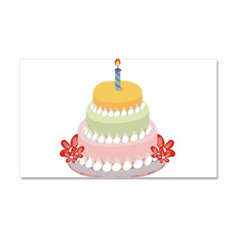 BIRTHDAY CAKE [9] Car Magnet 20 x 12