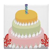 BIRTHDAY CAKE [9] Tile Coaster