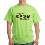 Flipping the bird Green T-Shirt