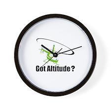 Got Altitude? White Wall Clock