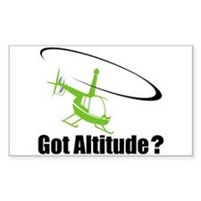 Got Altitude? White Rectangle Decal