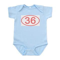 Number 36 Oval Infant Bodysuit