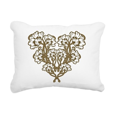 floral art nouveau motif rectangular canvas pillow by oph3lia. Black Bedroom Furniture Sets. Home Design Ideas