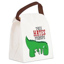 Trex hates pushups Canvas Lunch Bag