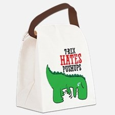 Trex hates pushups Canvas Lunch Bag