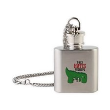 Trex hates pushups Flask Necklace