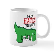 Trex hates pushups Mug