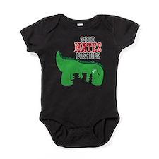 Trex hates pushups Baby Bodysuit