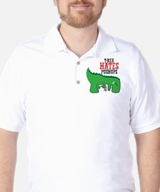 Trex hates pushups Golf Shirt