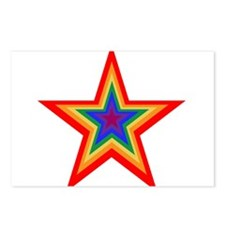 Rainbow Star Postcards (Package of 8)