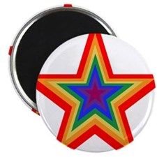 "Rainbow Star 2.25"" Magnet (10 pack)"