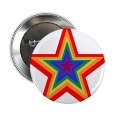 "Rainbow Star 2.25"" Button"