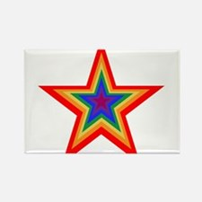 Rainbow Star Rectangle Magnet