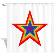 Rainbow Star Shower Curtain