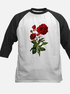 Vintage Red Rose Kids Baseball Jersey