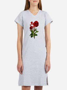 Vintage Red Rose Women's Nightshirt