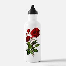 Vintage Red Rose Water Bottle