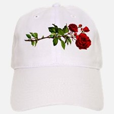 Vintage Red Rose Baseball Baseball Cap