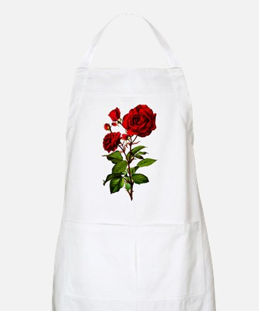 Vintage Red Rose Apron