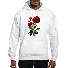 Vintage Red Rose Hoodie