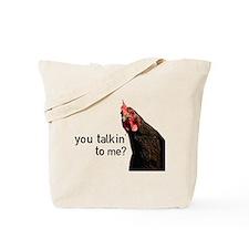 Funny Attitude Chicken Tote Bag