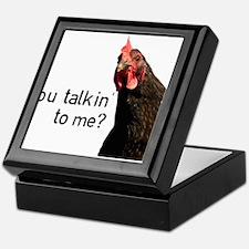 Funny Attitude Chicken Keepsake Box
