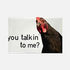 Funny Attitude Chicken Rectangle Magnet