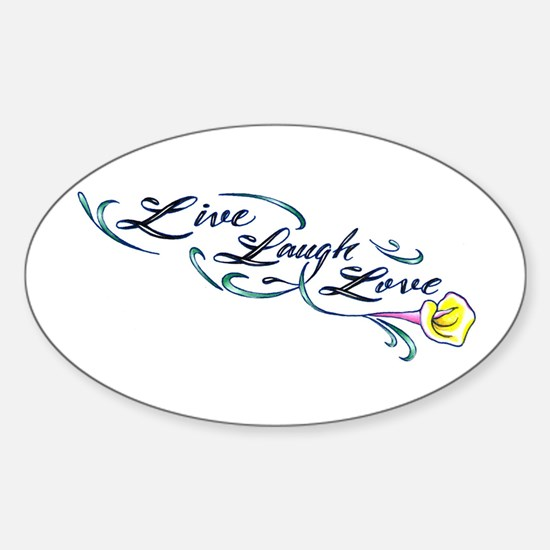 Live Laugh Love Oval Decal