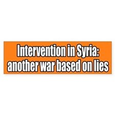 Syria War Lies Bumper Bumper Sticker