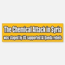 Syria False Flag Chemical Attack Bumper Bumper Bumper Sticker