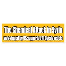 Syria False Flag Chemical Attack Bumper Bumper Sticker