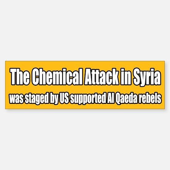 Syria False Flag Chemical Attack Bumper Car Car Sticker