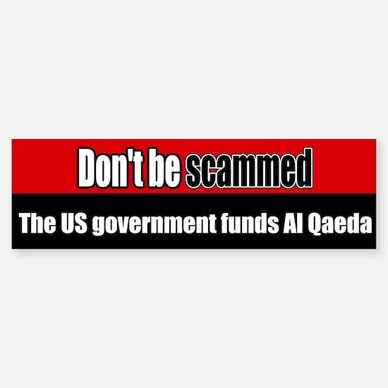 US government funds Al Qaeda Bumper Car Car Sticker