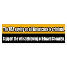 Support Edward Snowden Bumper Bumper Sticker