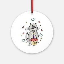 BIRTHDAY KITTY [2] Ornament (Round)
