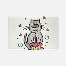 BIRTHDAY KITTY [2] Rectangle Magnet (10 pack)