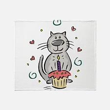 BIRTHDAY KITTY [2] Throw Blanket