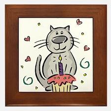 BIRTHDAY KITTY [2] Framed Tile