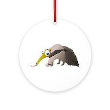 Cartoon Anteater Ornament (Round)