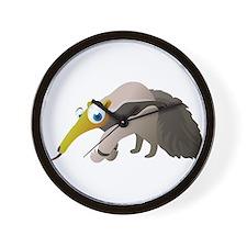 Cartoon Anteater Wall Clock