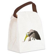 Cartoon Anteater Canvas Lunch Bag