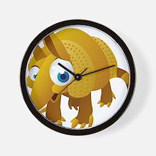 Cartoon Armadillo Wall Clock