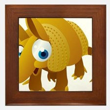 Cartoon Armadillo Framed Tile