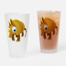 Cartoon Armadillo Drinking Glass