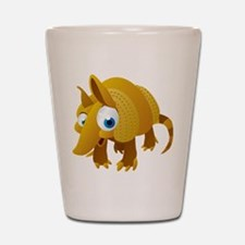 Cartoon Armadillo Shot Glass