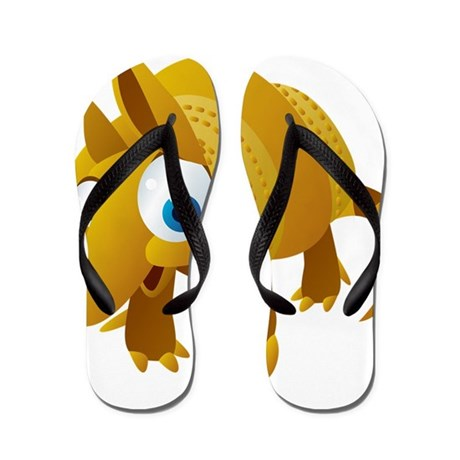 Cartoon Armadillo Flip Flops
